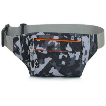 Camouflage Breath Waist Bag for Outdoor Sports Mountaineering Running - ASH GRAY