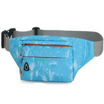 Camouflage Breath Waist Bag for Outdoor Sports Mountaineering Running - LIGHT BLUE