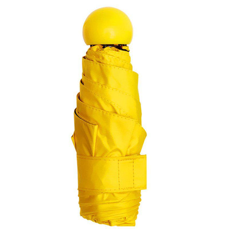 New Creative Mini Portable Capsule Umbrella - RUBBER DUCKY YELLOW