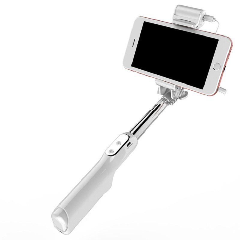 Three - Shift Beauty Selfie Stick Is Suitable for The 3.5-6.0 Inch Screen Phone - WHITE