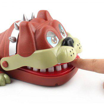 New Strange Trick Toys Board Bulldog Biting Game - BROWN