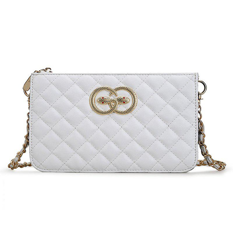 Chains Crossbody Bag for Women Messenger Bags - WHITE