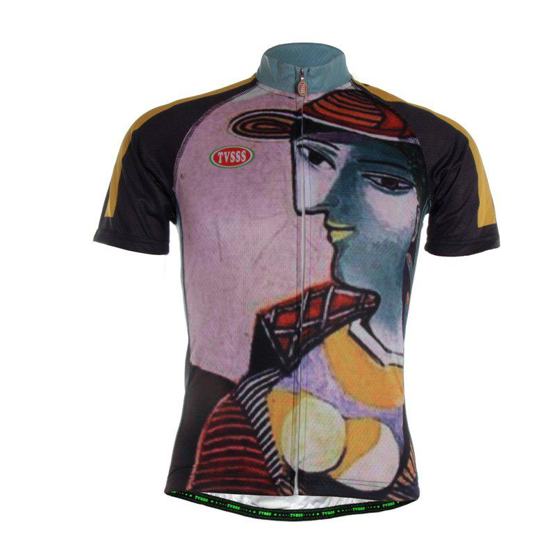 TVSSS Men Summer Retro Design Short Sleeve Jersey Sportswear - multicolor 3XL