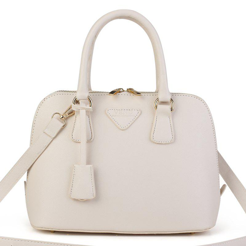 Fashion Trend Small Fresh Women'S Shell Bag - WHITE