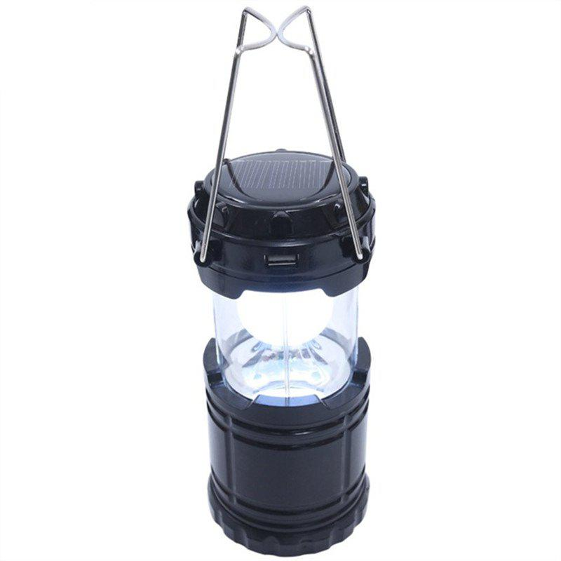 Outdoor LED Solar Power Collapsible Portable Rechargeable Hand Lamp Camping 10x42 profession binoculars ranging high power hd portable hand power metal outdoor spotting scope souvenir fun for children