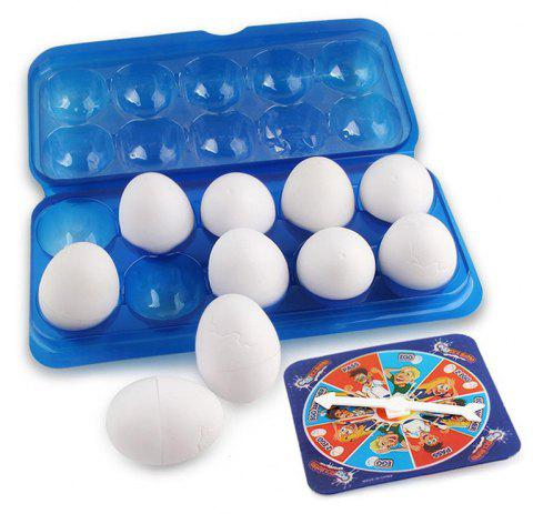 Egged Wet Body Game Party Lucky Challenge Toy Family Hilarious Game for Adults Teens Kids Egg Roulette Game - WHITE