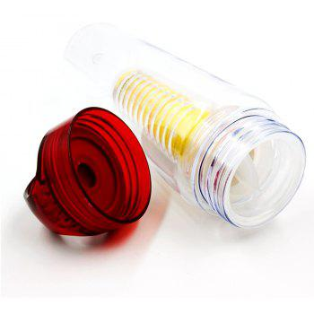 Fruit Juice Shaker Sports Water Cup Tour Hiking Portable Climbing Camp Bottle - RED