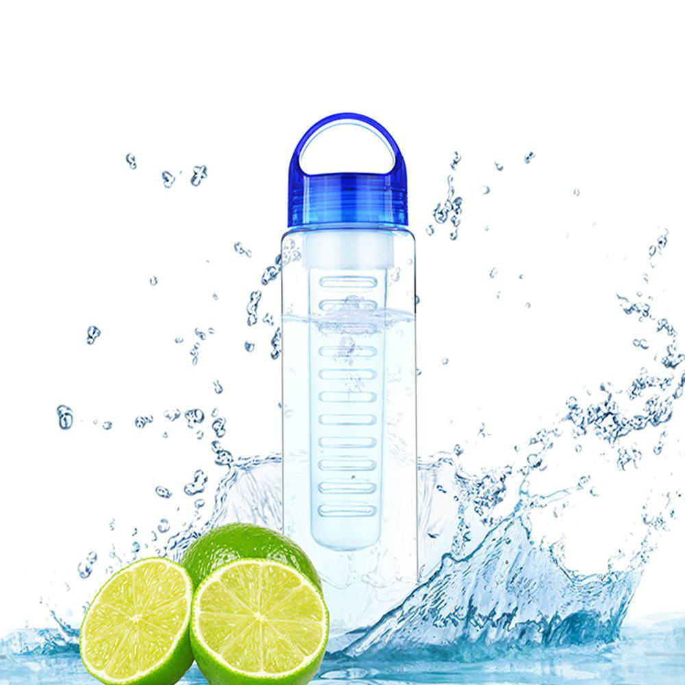 Fruit Juice Shaker Sports Water Cup Tour Hiking Portable Climbing Camp Bottle - BLUE