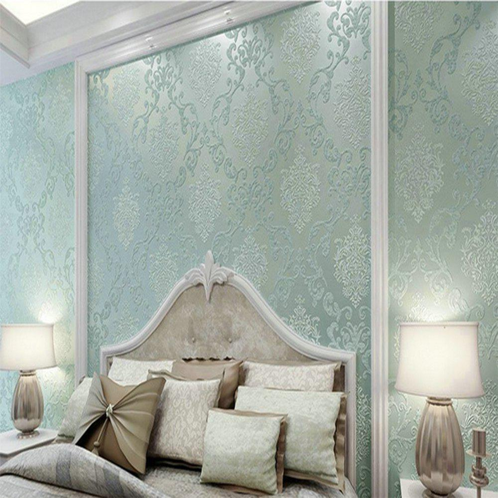 Modern 3D Embossed Background For Living Room Bedroom Wallpaper or fabric camouflage leaf headgear