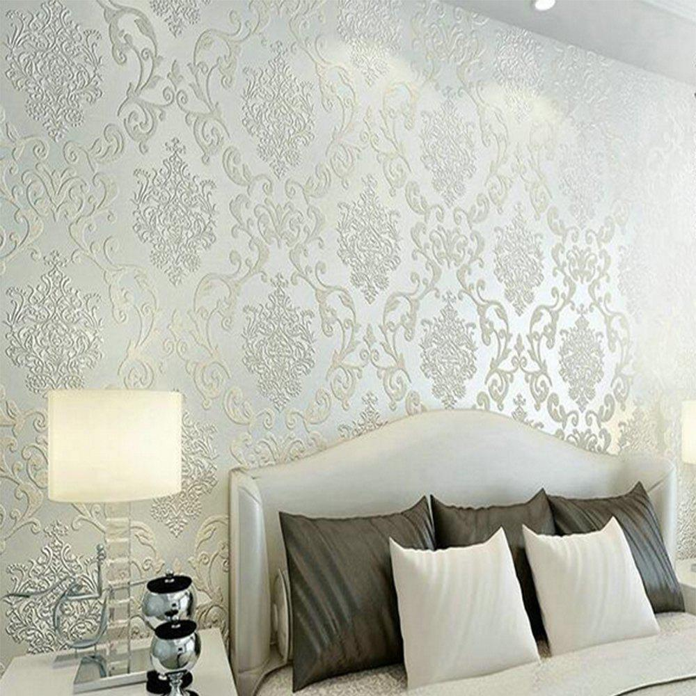 Modern 3D Embossed Background For Living Room Bedroom Wallpaper beibehang 3d high relief embossed thicker continental style non woven living room bedroom tv background wallpaper