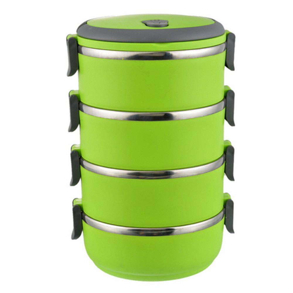 Stainless Steel Food Container Round Shape Portable Lunch Box oushiba multi function car electric food warmer lunch box blue white