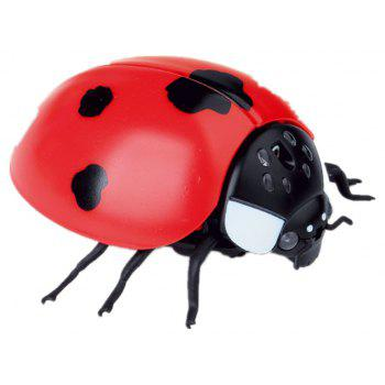 Seven Star Ladybug Remote Control Simulation Insect Toy - RED