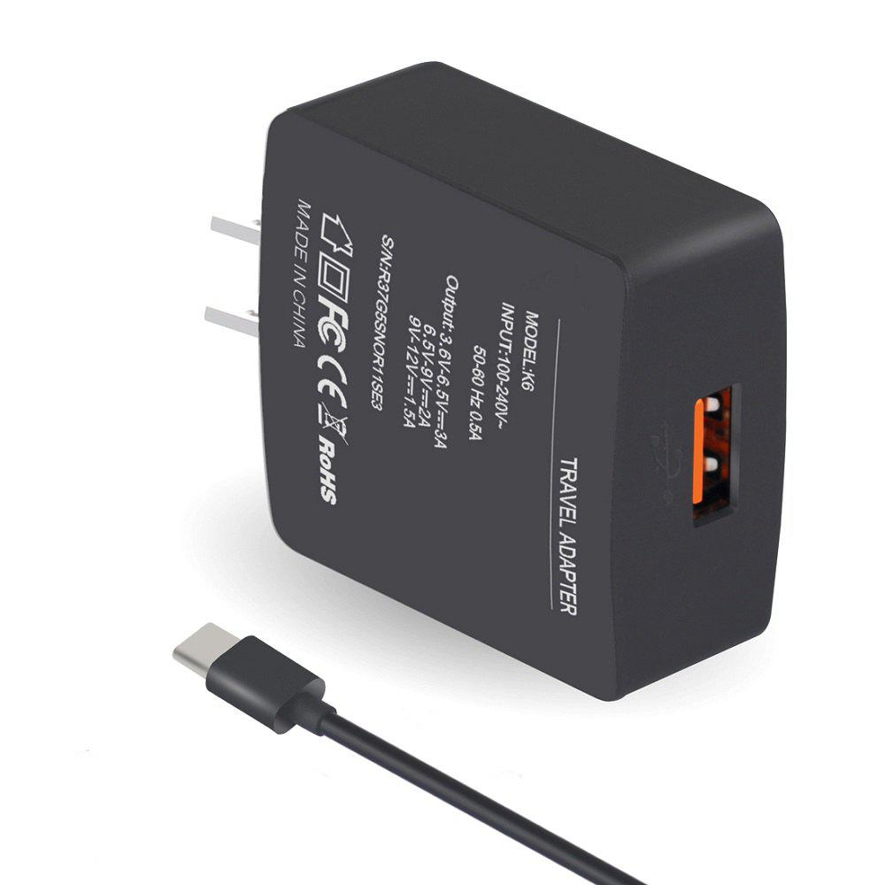 Fast Charger Kit Compatible with All Other Type- C Interface Phone - BLACK