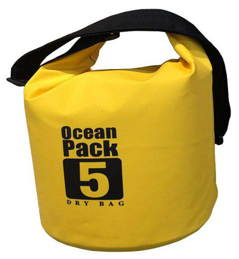 Outdoor Rafting Bag  Single Shoulder Snorkeling  5 Litres - YELLOW