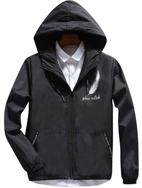 Men's Fashion Japanese Feather Jacket - BLACK XL