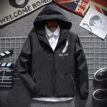Men's Fashion Japanese Feather Jacket - BLACK 3XL