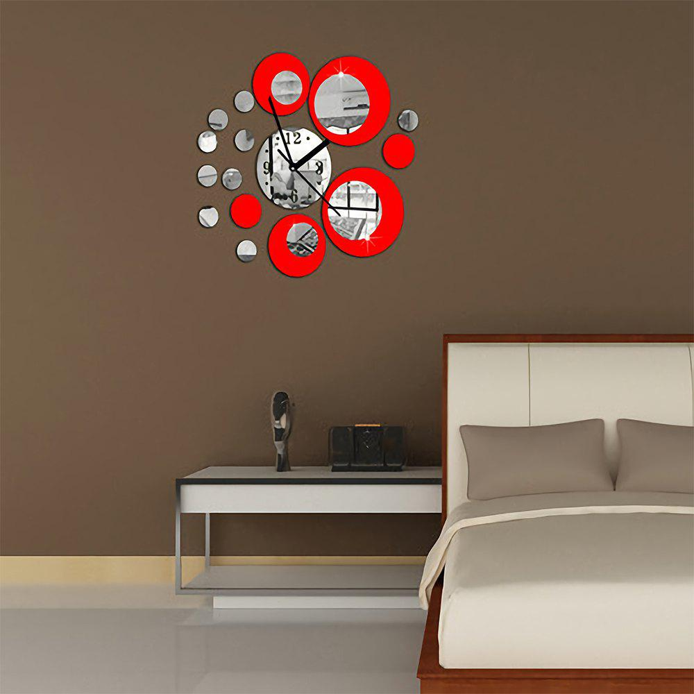 Round Art Home Background Mirror Wall Sticker - multicolor A 60X45CM