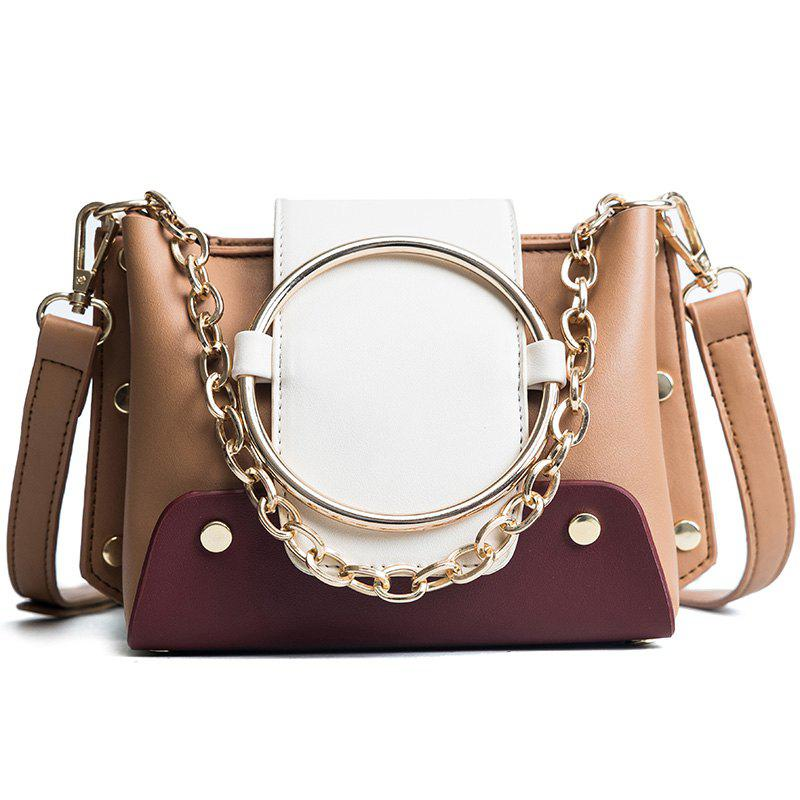 DA11219Fashion Lady'S Single Shoulder Rivet Bag - WHITE