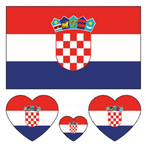 Croatian Flag Body Tattoo Stickers - multicolor