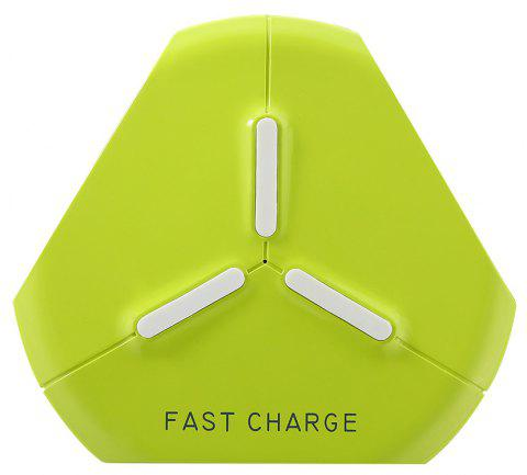 Wireless Charger Fast Charge Pad for iPhone X 8 Samsung S7 S8 S9 Galaxy Note 8 - GREEN