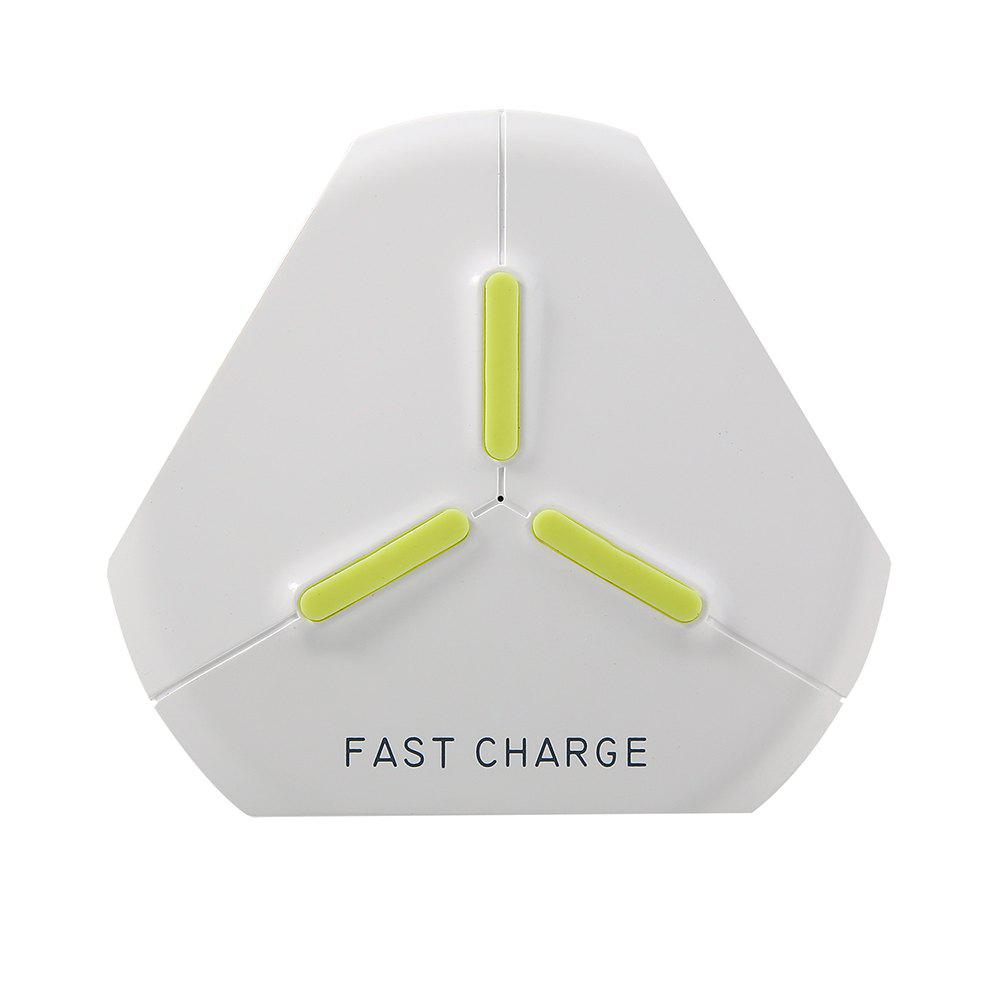 Wireless Charger Fast Charge Pad for iPhone X 8 Samsung S7 S8 S9 Galaxy Note 8 - WHITE
