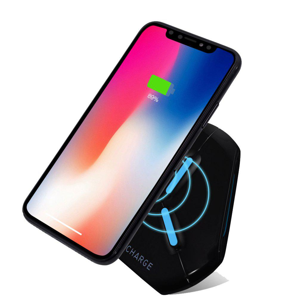 Wireless Charger Fast Charge Pad for iPhone X 8 Samsung S7 S8 S9 Galaxy Note 8 - BLACK