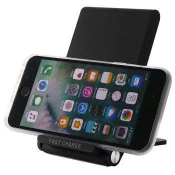 Fast Charge Wireless Charger Pad for iPhone X 8 8 Plus Samsung S8 S9 Note 8 - BLACK