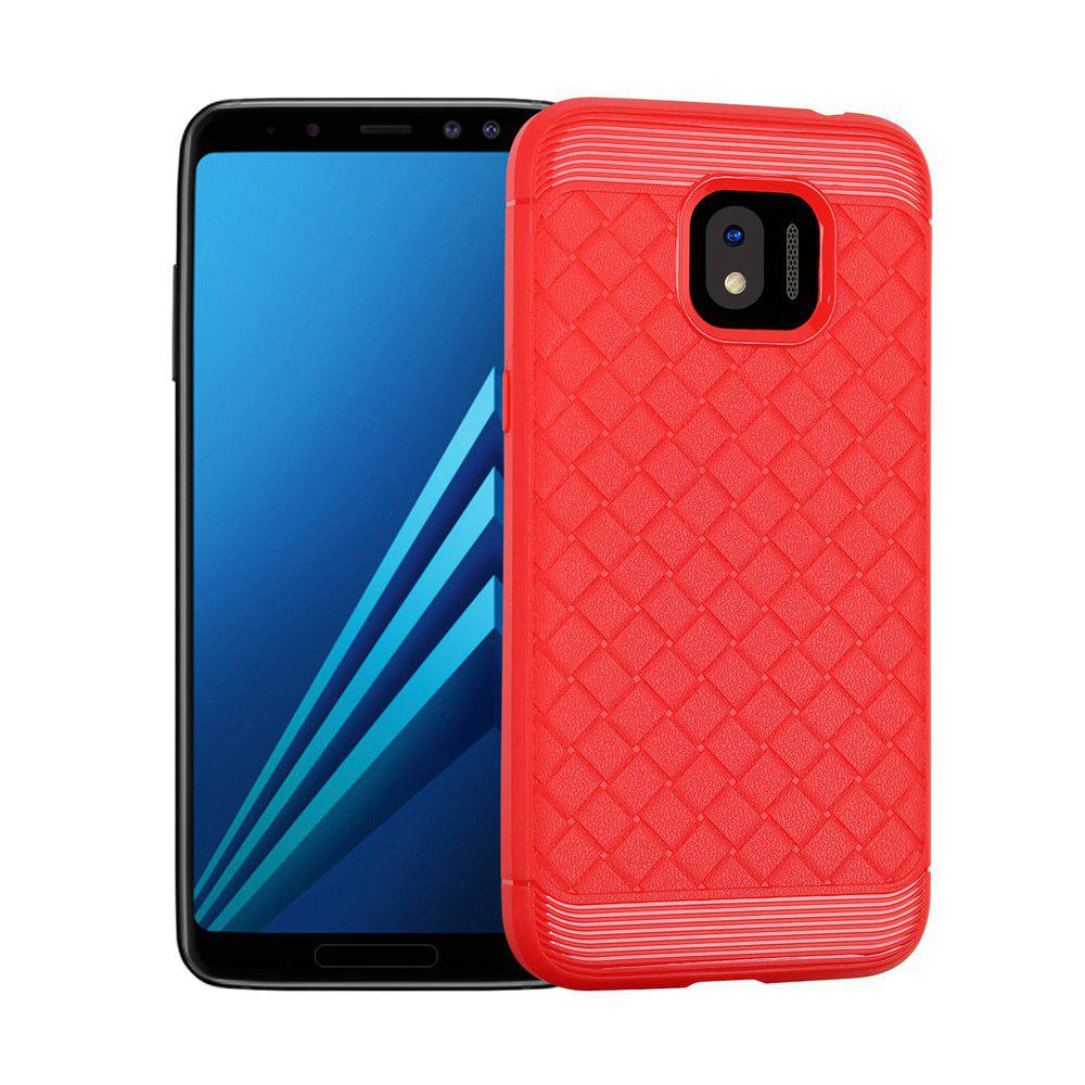 Luxury TPU Silicone Soft Phone Case for Samsung Galaxy J2 PRO 2018 Back Cover - RED