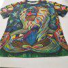 Men's 3D Digital Printed Character T-Shirts - multicolor A 3XL