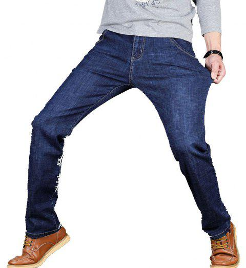 Men's Jeans New Jeans Trousers - STEEL BLUE 40