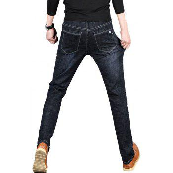 Men's Jeans New Jeans Trousers - BLACK 40