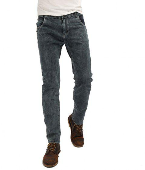 New Men's Denim Jeans Pants - DENIM DARK BLUE 27