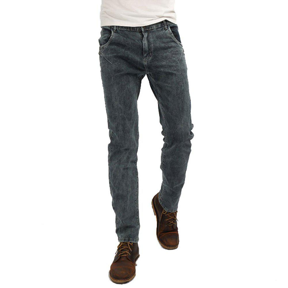 New Men's Denim Jeans Pants - DENIM DARK BLUE 34