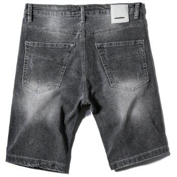 New Men's Jeans Short Pants - DARK SLATE GREY 33