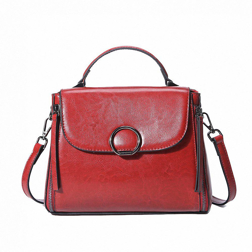 FOCOSH 222 European and American Fashion Single Shoulder Bag - RED WINE