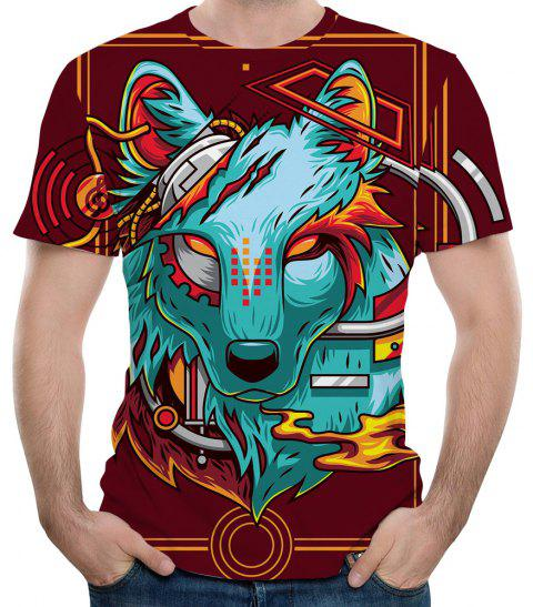 2018 Summer Short Sleeve Fashion Casual 3D T-Shirt - multicolor A S