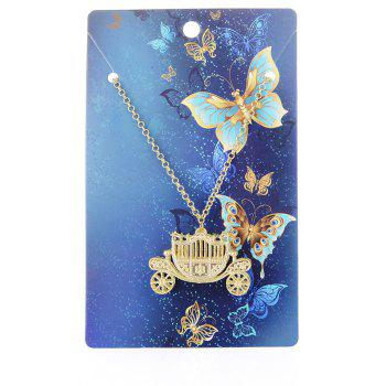 European and American Fashion Jewelry Vintage Gothic Carriage Pendant Necklace - GOLD