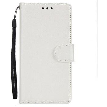 for IPhone X Wallet Case with Case Kickstand Feature Card Slots and Magnetic - WHITE