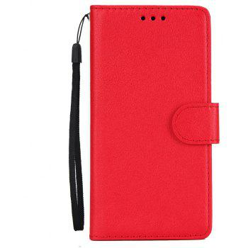 for IPhone X Wallet Case with Case Kickstand Feature Card Slots and Magnetic - RED