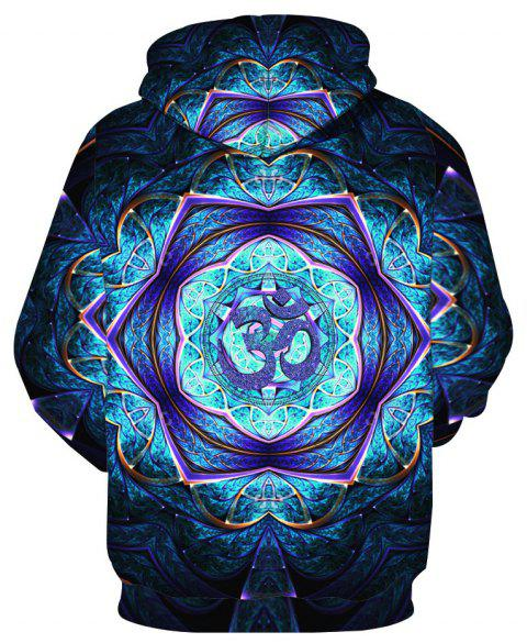 Trendy Pattern Printed Hoodie - ROYAL BLUE 6XL