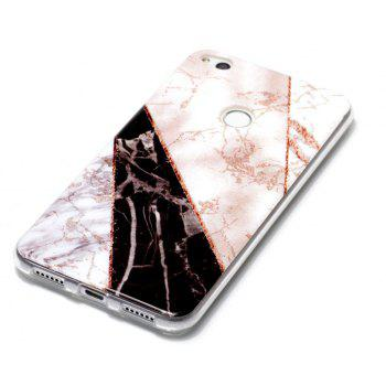TPU Material Marble Pattern HD IMD Phone Case for Huawei P8 Lite (2017) - multicolor E