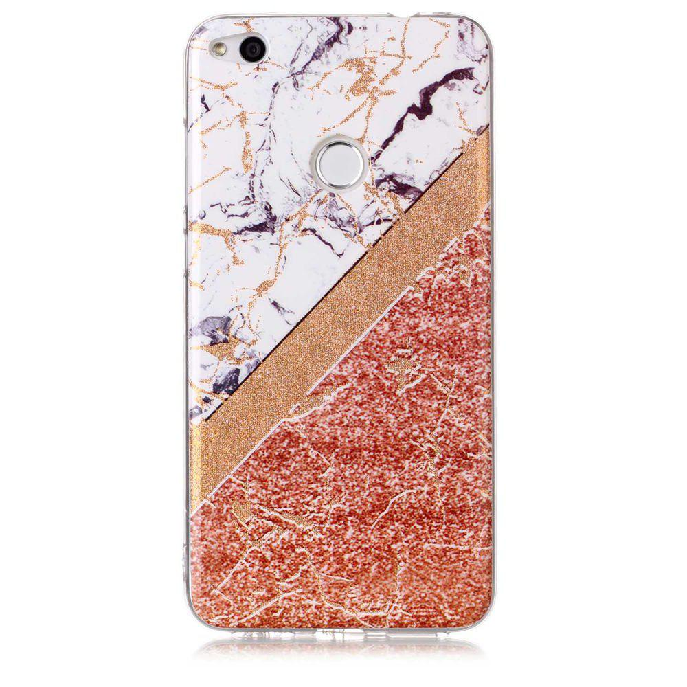 TPU Material Marble Pattern HD IMD Phone Case for Huawei P8 Lite (2017) - multicolor A