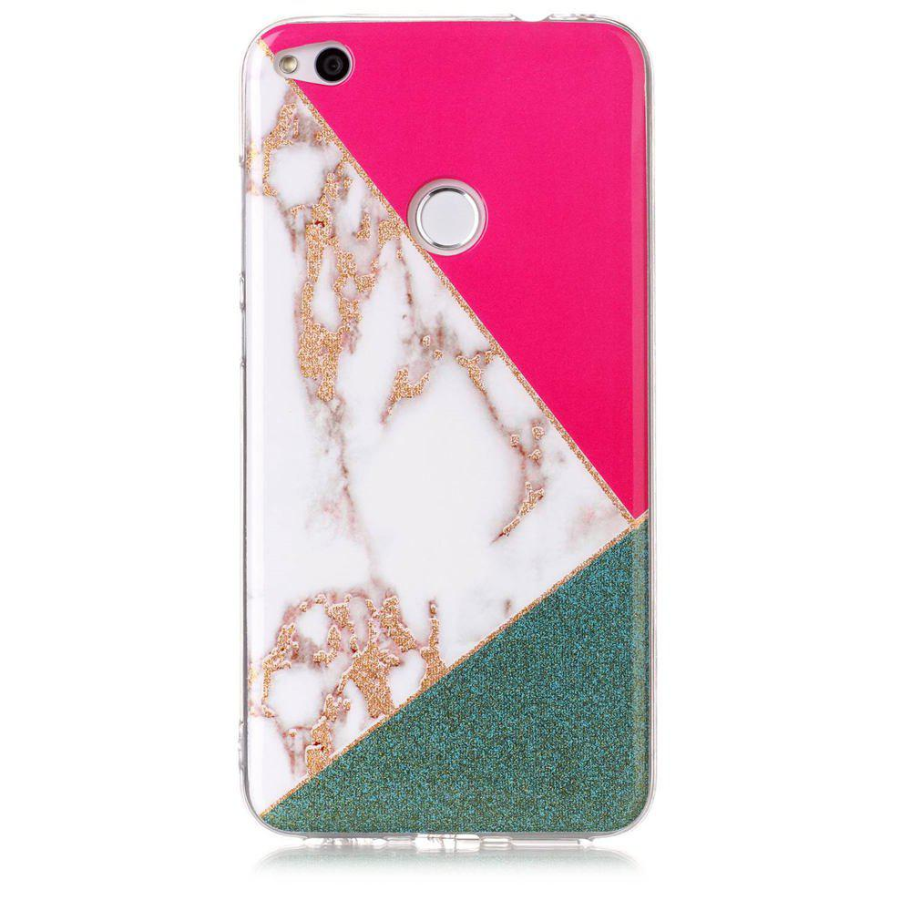 TPU Material Marble Pattern HD IMD Phone Case for Huawei P8 Lite (2017) - multicolor C