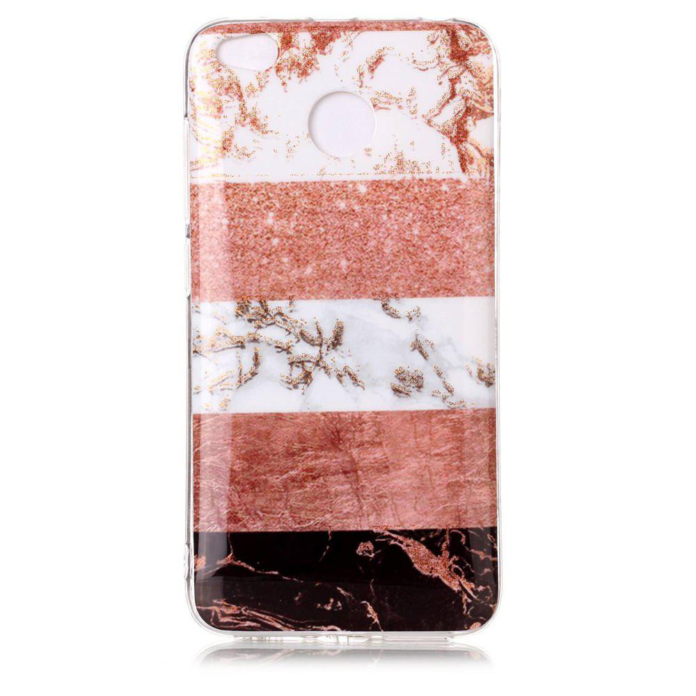 TPU Material Marble Pattern HD IMD Phone Case for Xiaomi Redmi 4x - multicolor E