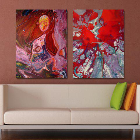 MY43-CX - 35-43 Fashion Abstract Print Art Ready to Hang Paintings 2PCS - multicolor 30 X 40CM X 2