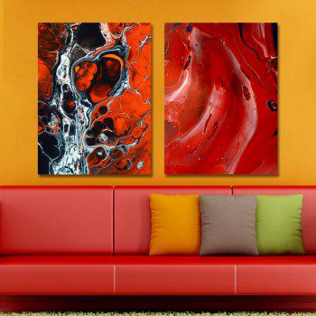 MY43-CX - 36-53 Fashion Abstract Print Art Ready to Hang Paintings 2PCS - multicolor 30 X 40CM X 2