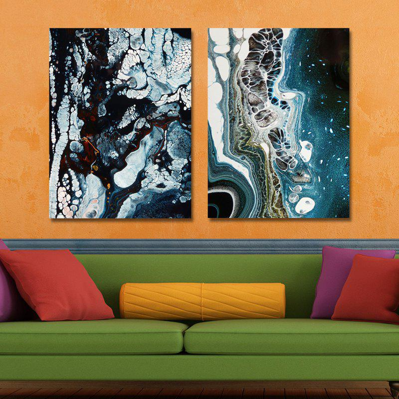 MY43-CX - 37-78 Fashion Abstract Print Art Ready to Hang Paintings 2PCS - multicolor 30 X 40CM X 2