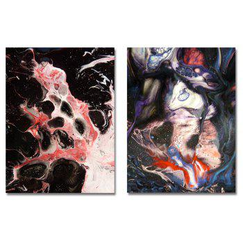 MY43-CX - 38-118 Fashion Abstract Print Art Ready to Hang Paintings 2PCS - multicolor 30 X 40CM X 2