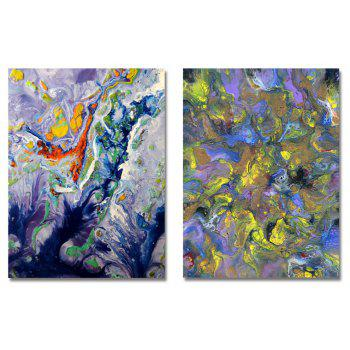 MY43-CX - 40-248 Fashion Abstract Print Art Ready to Hang Paintings 2PCS - multicolor 30 X 40CM X 2