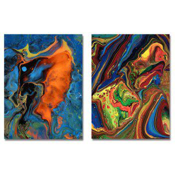 MY43-CX - 42-91 Fashion Abstract Print Art Ready to Hang Paintings 2PCS - multicolor 30 X 40CM X 2